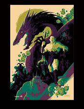 "Weta Hobbit Smaug Azog Lord of Rings Limited Green Poster 24x36"" Art Print Mondo"