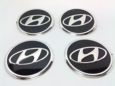 NEW 4pcs Decal Alu Stickers for Wheel Centre Cap Hubs for HYUNDAI - 60mm
