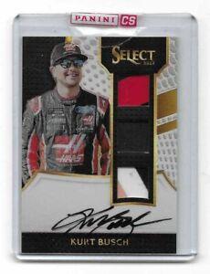 2017 Select NASCAR Racing Signature Swatches Triples WHITE Kurt Busch 33/50 $$$