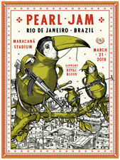Pearl Jam     *CONCERT POSTER*   -Rio De Janeiro-    SOLD OUT  Zupa  2018