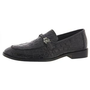 Stacy Adams Mens Bellucci Black Leather Loafers Shoes 11 Medium (D) BHFO 2509