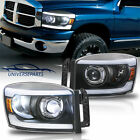 For 2006-08 Dodge Ram 150025003500 Pickup Led Projector Headlights Drl Chrome