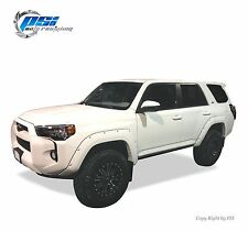 Black Paintable Pocket Rivet Bolt Fender Flares 14-17 Toyota 4Runner Full Set