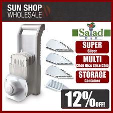 100% Genuine! D.LINE Salad Bar Super Slicer Mandolin Slicer White! RRP $39.99!