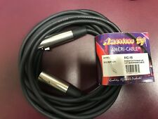 Ameri-Cable Microphone Cord MC-15 Female XLR to Male XLR cable NEW American DJ