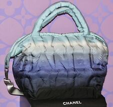 CHANEL *DOUDOUNE* Embossed Nylon Bubble Quilted XL 2-way Travel Tote Bag LIMITED
