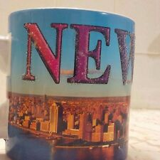 I LOVE NY JUMBO MUG NEW YORK DAY SKY LINE SOUVENIR COFFEE PENCIL holder