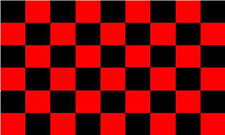Red / Black Check Chequered Large Flag 5' x 3'
