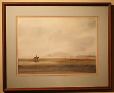 Authentic Original Irish Painting BEACH HORSE RIDING by Holywood Artist TOM KERR