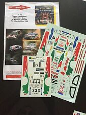 DECALS 1/24 TOYOTA COROLLA SAINZ RALLYE CHINE CHINA 1999 WRC RALLY