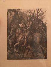 Albrecht Durer, Knight Death and the Devil, Original Etching, Amand Durand 1879