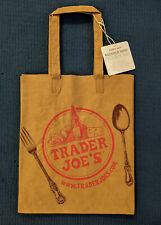 """NWT Trader Joe's NEW washable reusable paper grocery shopping bag 14""""x11.5""""x7"""""""