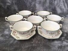 More details for vintage johnson bros eternal beau set of 7 two handles soup bowls