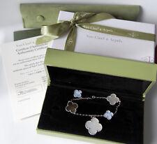 FULL Set Van Cleef & Arpels VCA Magic Alhambra Bracelet White Gold 5 motifs CERT