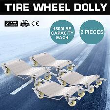 "Set of (4) Auto Dolly Wheel Tire 12""x16"" Skate Castor Vehicle Auto Car Repair"