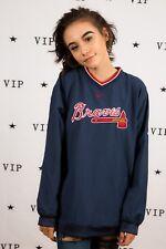 Atlanta Braves drill top pullover Nike baseball top Official merchandise