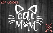 CAT MOM PET DOG QUOTE STICKER DECAL LAPTOP YETI CAR TUMBLER CUP MACBOOK