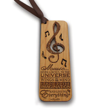 Bella Busta- MUSIC Bookmark- PLATO-Engraved Wood Bookmark