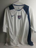 Team USA US NIKE Dri Fit Total 90 White Blue Men's Soccer Football Jersey XL