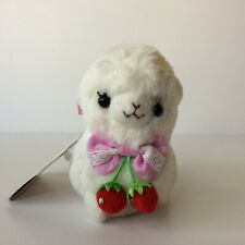 AMUSE Beri Beri Baby Alpacasso White Girl (12cm)Strawberry Arpakasso Plush Japan