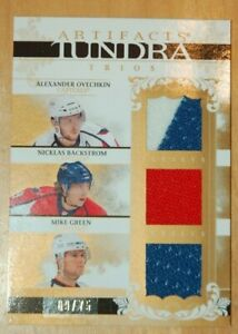 ARTIFACTS TUNDRA TRIOS JERSEY ALEXANDER OVECHKIN MIKE GREEN NICKLAS BACKSTROM /#