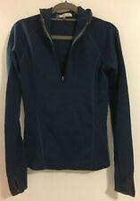 Ibex Women's Shak Half Zip Pullover Hoodie Merino Wool - Blue Green - Xs