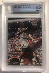 1992-93 Topps Stadium Club #247 Shaquille O'Neal Rookie Card BGS 8.5 RC