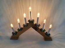 Vintage Christmas  7 Candle Bridge / Arch Light Mains Powered 40cm