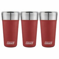 Coleman Brew Tumbler 20oz Heritage Red Insulated Stainless Steel Cup (3-Pack)