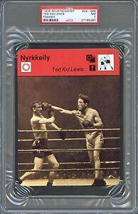 1978 Sportscaster Finnish TED Kid LEWIS Johnny BASHAMIN Boxing Card PSA 7 Rare!