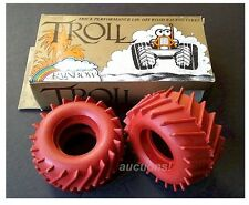 VINTAGE TAMIYA TROLL RED TIRES Rear SAND SCORCHER SUPER CHAMP FROG HORNET 1pr(2)