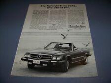 VINTAGE..1976 MERCEDES-BENZ 450SL  ..1-PAGE ORIGINAL SALES AD...RARE! (716T)