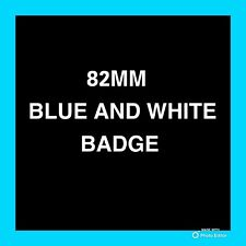 ✅Bmw✅ Blue And White✅82mm Bonnet Or Boot Complete Badge Brand New 2 Pins OEM!