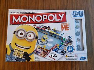 MONOPOLY DESPICABLE ME MINIONS BOARD GAME HASBRO