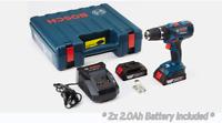 Bosch GSB 18-2-LI 18V 2x2Ah Li-Ion Cordless Hammer Drill Driver L-Boxx 136 UPS