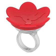 Zummr Hummingbird Ring Feeder Red Hand Feed Dishwasher Safe Free Shipping New