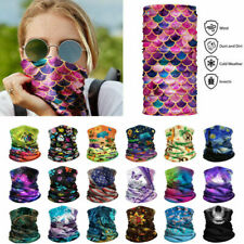 3D Cool Summer Half Face Mask/Neck Gaiter Biker Scarf Tube Bandana Cap Headwrap