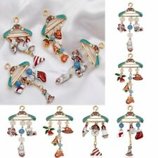 Christmas Brooch Pin Enamel Santa Claus Socks Bell Tassel Collar Badge Xmas Gift