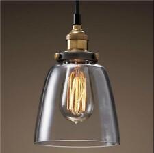 Glas Hängeleuchte Vintage Retro Pendelleuchte Blackburn Loft Edison Hängelampe