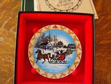 P Buckley Moss ornament CHRISTMAS SLEIGH--1992