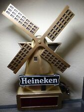 Vintage collectible Heineken Beer Gold Wind Mill Digital Clock Sign