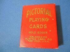 VIintage Pictorial Playing Cards W/Box Kalamazoo Brand.
