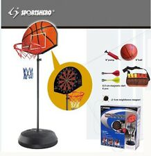 NEW BASKETBALL HOOP NET ADJUSTABLE STAND BALL AND PUMP INCLUDED WITH DART GAME