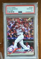 2018 TOPPS #259 RHYS HOSKINS BATTING PHILLIES GEM MT 10 RC ROOKIE