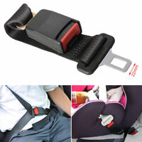 "14"" Universal Car Seatbelt Seat Belt Extender Extension 7/8"" Clip Strap Adjuster"