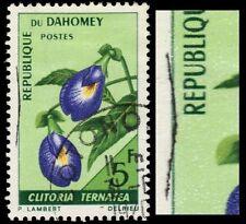 "DAHOMEY 228var - Butterfly Pea ""Black Stitch Print Flaw"" (pf74338)"