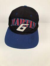 Martin # 6 Nascar Racing Hat Snapback signature vintage one size cap black blue