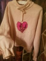 Adorable Pink Sweater ! Sz M Pre Owned