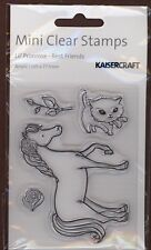 HORSE kitty CAT kitten ROSE's CLEAR acrylic UNMOUNTED RUBBER STAMP's! NEW