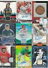 LOT (27) MLB Baseball Topps Brand Game-Used Jersey Bat Relic Patch AUTO RC /50